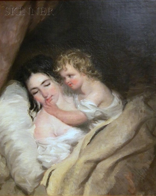 14: Manner of Thomas Sully (American, 1783-1872) Sleepi