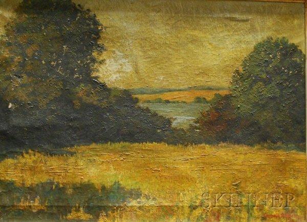 126: Yarnall Abbott (American, 1870-1938) Fields and Wo
