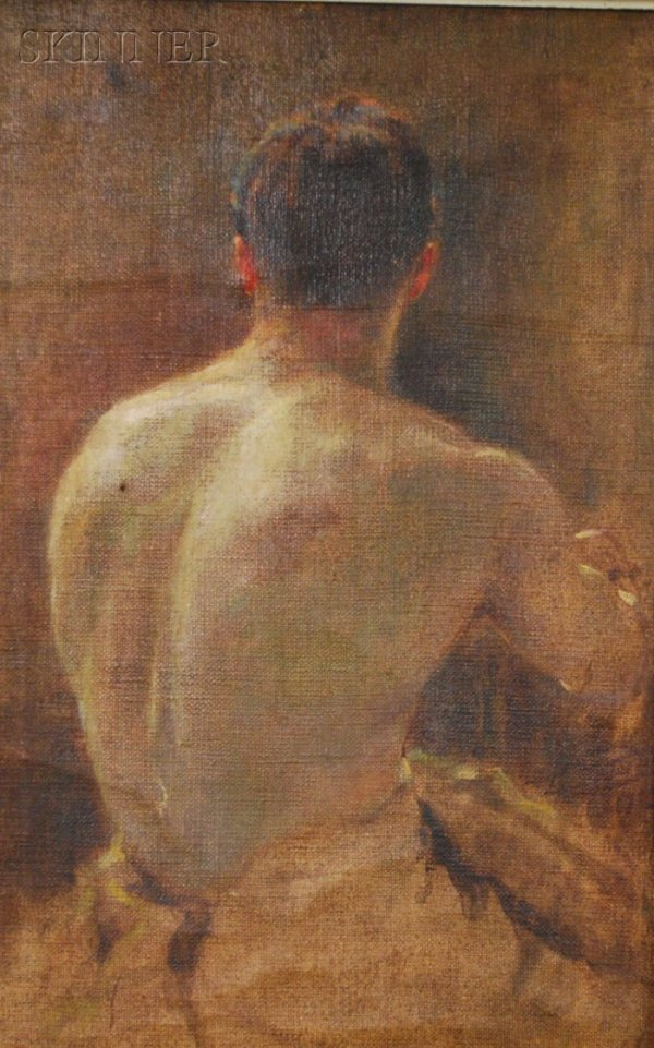 161: American School, 20th Century Portrait Study of a