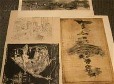 398 Lot of Four Prints Johnny Friedlaender German 1