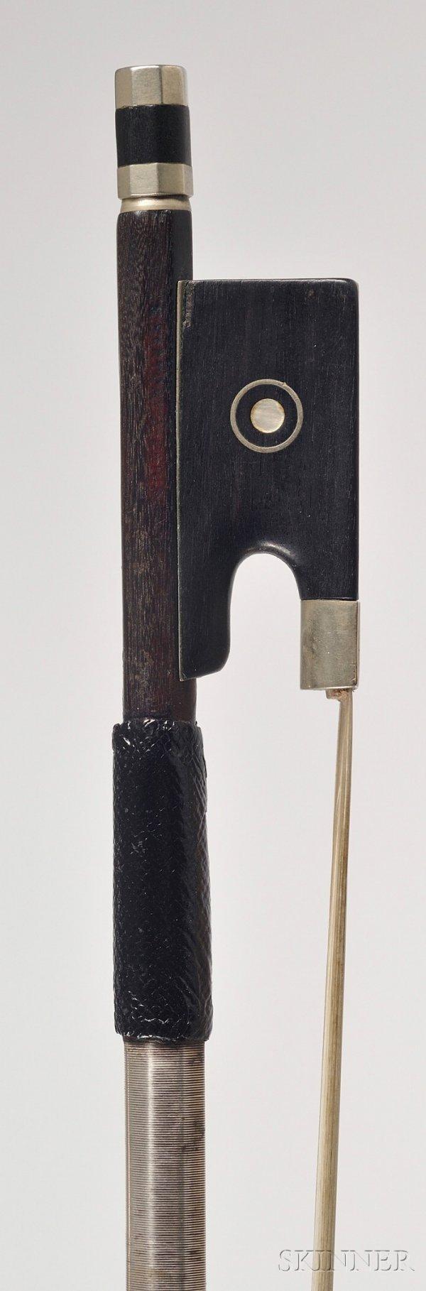 100: French Nickel Mounted Violin Bow, Eugene Sartory,