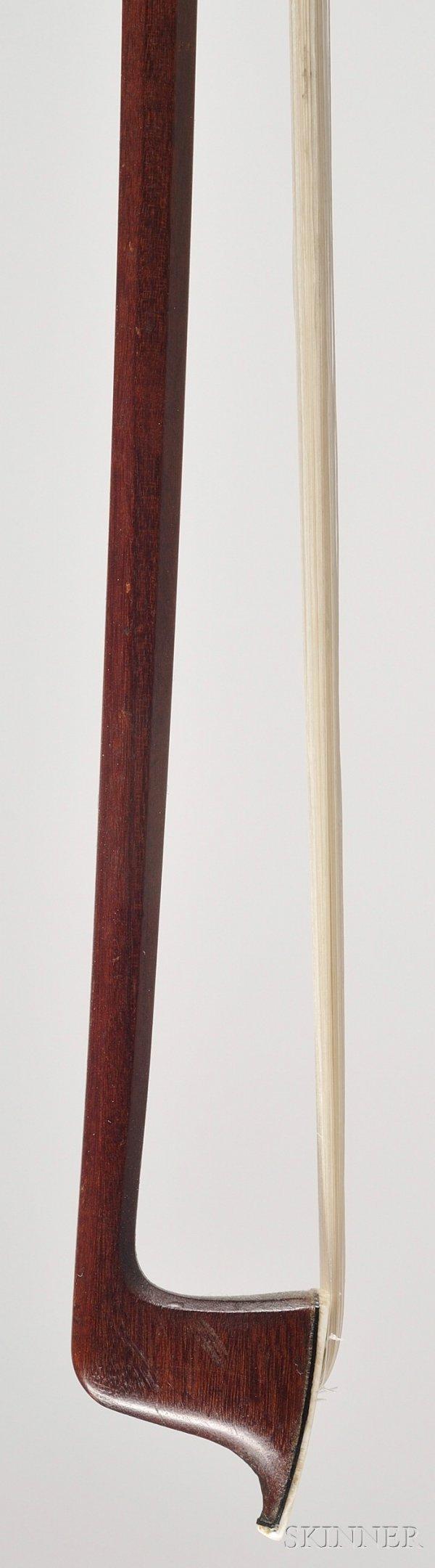 100: French Nickel Mounted Violin Bow, Eugene Sartory,  - 2