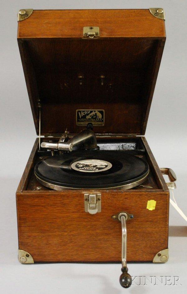 508: Oak Cased Victor Portable Phonograph, model no. VV