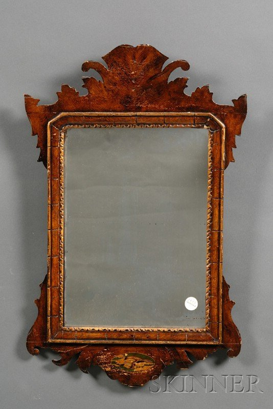 522: Chippendale-style Mahogany, Parcel-gilt, and Paint