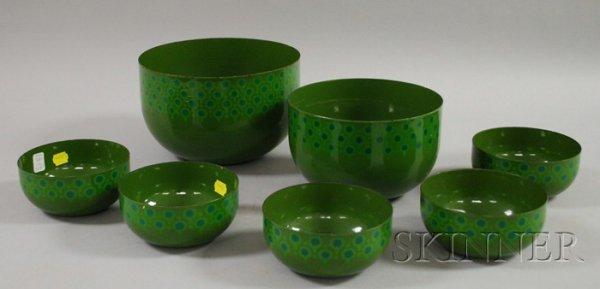 523: Seven Vefa Porcelain Enamelware Bowls, Germany, in