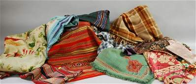 552 Group of Assorted Woven and Embroidered Textiles a