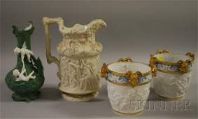 599: Pair of German Classical-style Gilt Porcelain Cach