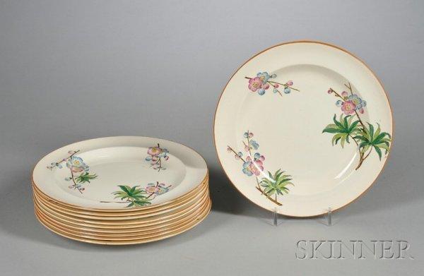 651: Ten Wedgwood Queen's Ware Plates, England, c. 1916