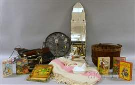 702 Small Lot of Decorative Items including a pair of