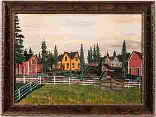 American School, c. 1900, Midwest Farmstead