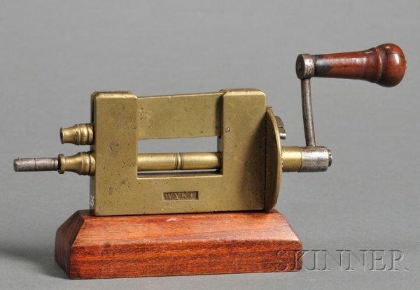1: Brass and Steel Mainspring Winder, John Wyke, Liverp