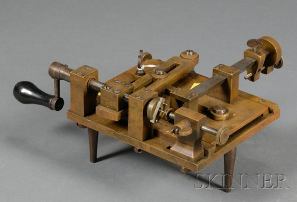 5: Brass and Steel Fusee Engine, England, c. 1850, the