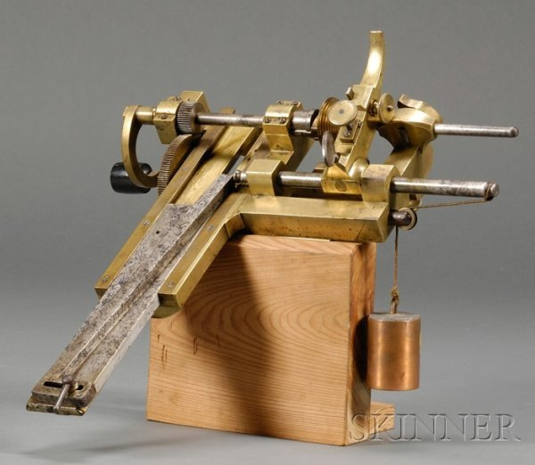 6: Brass and Steel Clock Fusee Engine, probably Switzer