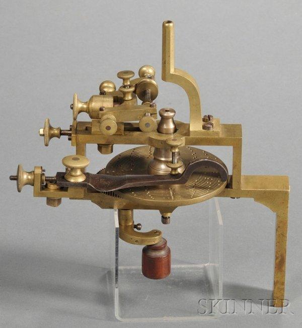 8: Small Brass Wheel Cutting Engine, Switzerland, 19th