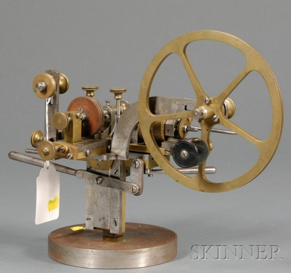 17: Brass and Steel Engine for Wheel- and Pinion-cuttin
