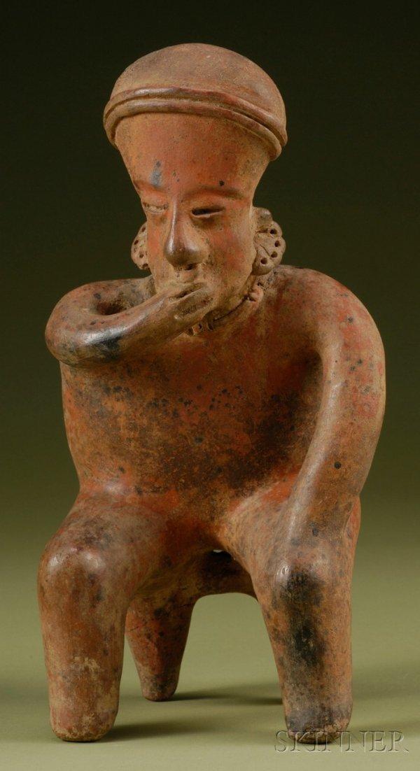 2: Pre-Columbian Pottery Figure, Nayarit, c. 100 B.C.-2