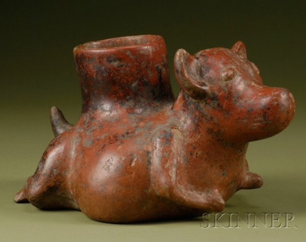 5: Pre-Columbian Pottery Dog, western Mexico, Colima, c