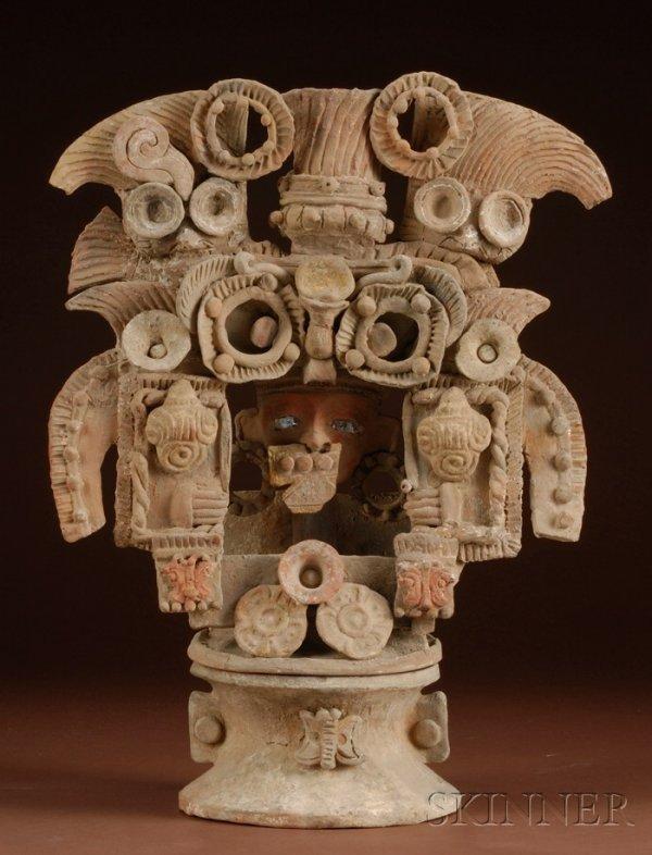 11: Pre-Columbian Pottery Incensario, Mexico, Teotihuac