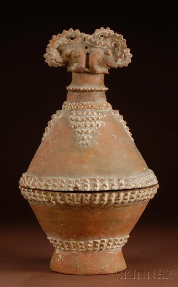 21: Pre-Columbian Pottery Incensario, Costa Rica, Guana
