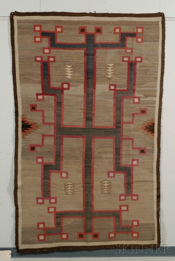 """445: Southwest Weaving, Navajo, c. 1920""""s, woven with n"""