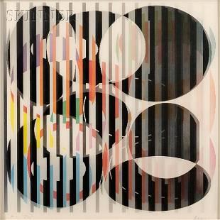 """Yaacov Agam (Israeli, b. 1928) Untitled. Signed """"Aga"""