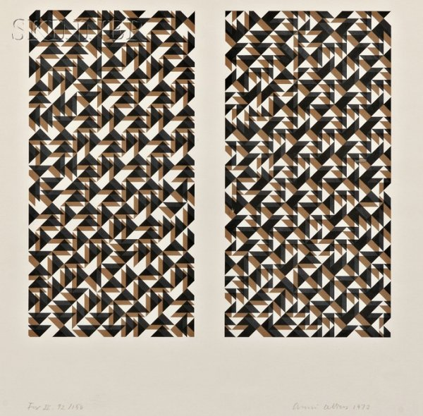 2: Anni Albers (German, 1899-1994) Fox II, 1972, editio