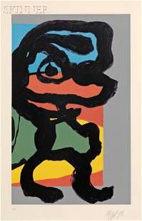 Karel Appel (Dutch, 1921-2006) Untitled (Figure), 19