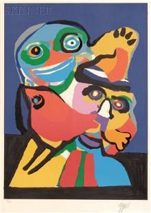 Karel Appel (Dutch, 1921-2006) Untitled (Two Figures