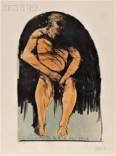 Leonard Baskin (American, 1922-2000) Lot of Two Sta
