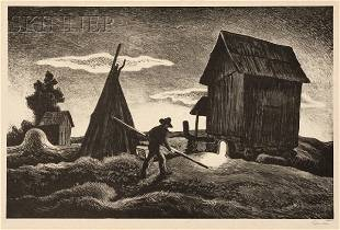 Thomas Hart Benton (American, 1889-1975) Night Firi