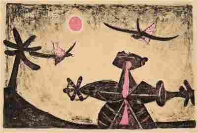 163: Rufino Tamayo (Mexican, 1899-1991) Observador de P