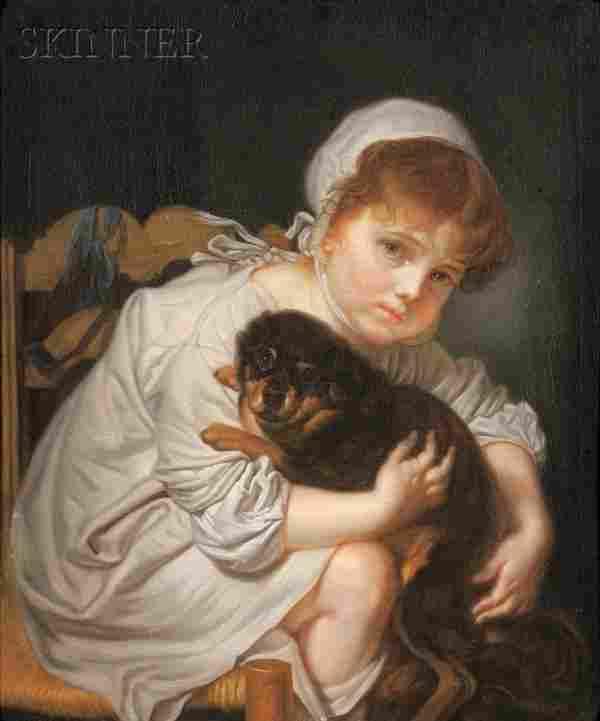 Continental School, 19th Century Portrait of a Gir