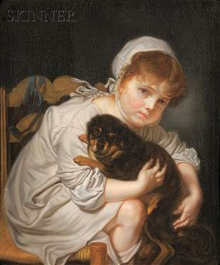 237: Continental School, 19th Century Portrait of a Gir