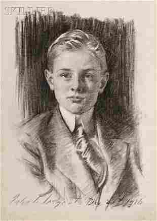 323: John Singer Sargent (American, 1856-1925) Portrait