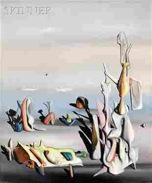 535: Yves Tanguy (French/American, 1900-1955) Un peu ap