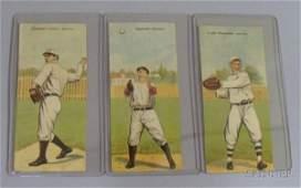1: Three 1911 T201 Mecca Cigarettes Double Folder Baseb