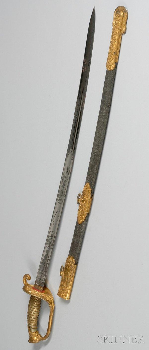 4: U.S. Navy Gilt-metal Mounted Presentation Sword and