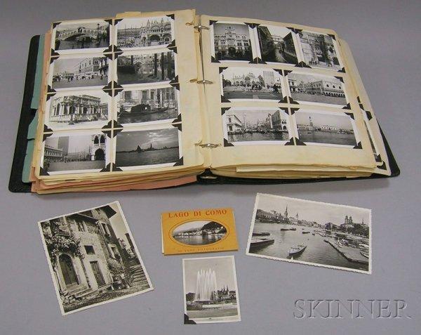 13: Album of European Travel Postcards, Photographs, an