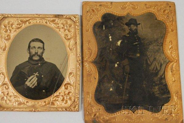 14: Two Civil War Tintypes, half-plate full-length port