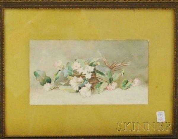 505: Framed Julia E. Goodwin Watercolor on Paper Apple