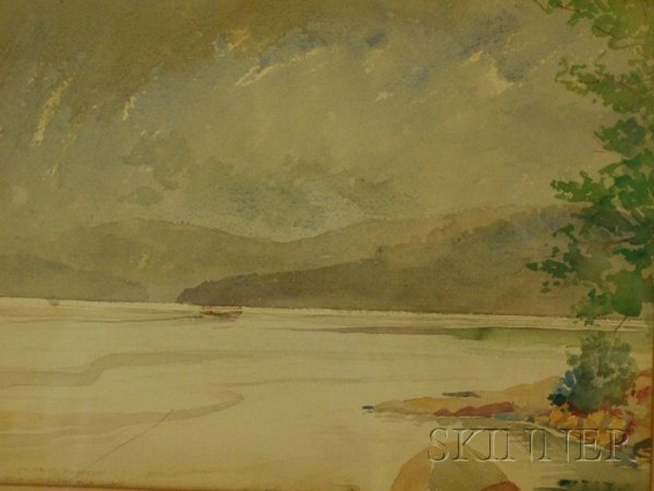 511: Framed 19th/20th Century American School Watercolo