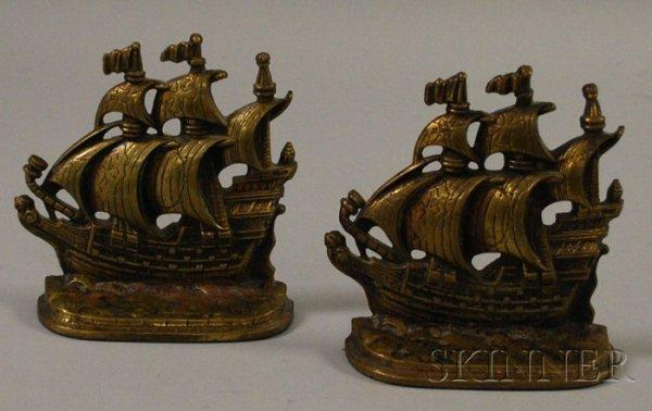 524: Pair of A.M. Greenblatt Studios Bronze Bookends of