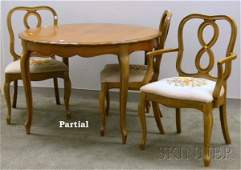 855: Provincial Louis XV Style Walnut Dining Table with
