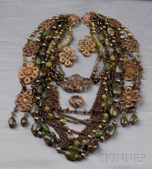 9: Vintage Hardstone Suite, Stephen Dweck, the necklace