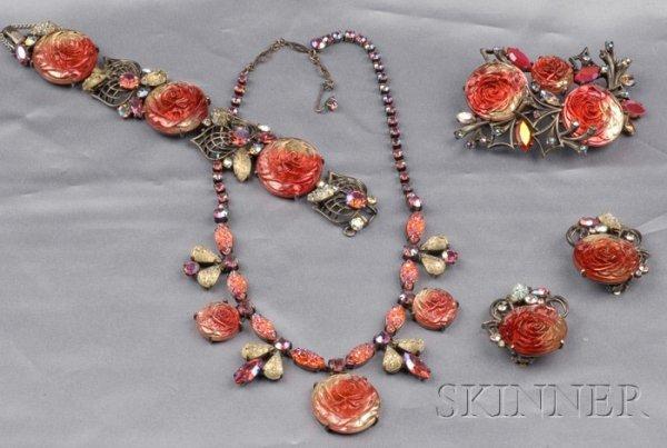 17: Vintage Suite of Costume Jewelry, Elsa Schiaparelli