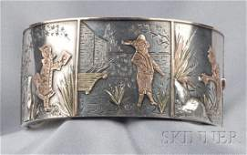 116: Victorian Aesthetic Movement Sterling Silver Brace