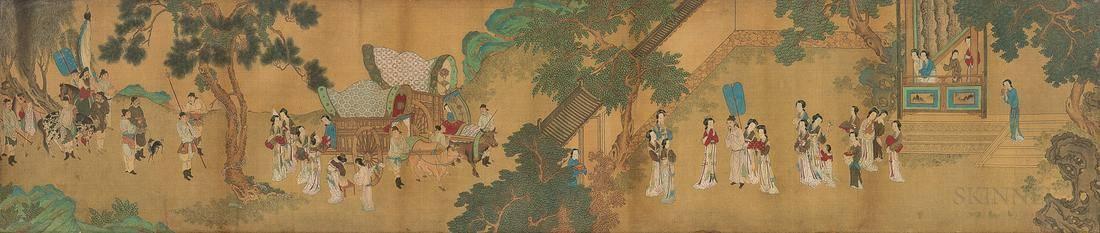 Handscroll Depicting Women in a Garden