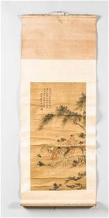 Hanging Scroll Depicting Poet Li Bai