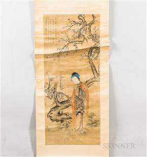 Hanging Scroll Depicting a Lady