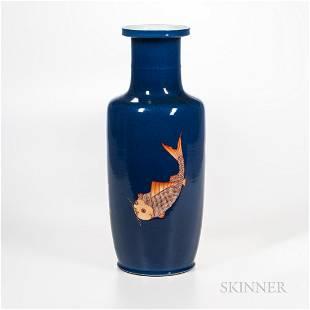 Powder Blue Rouleau Vase
